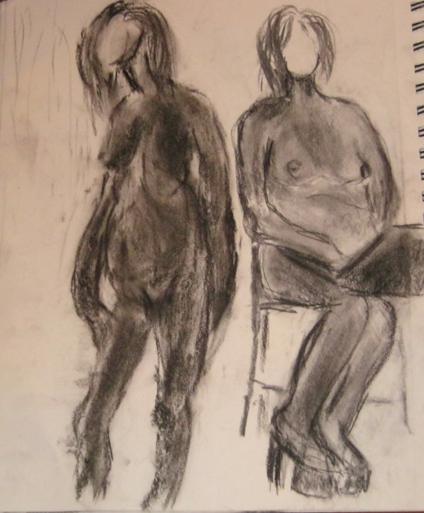 Charcoal images from Figure Drawing workshop on body acceptance in Montreal on Oct. 20, 2013.