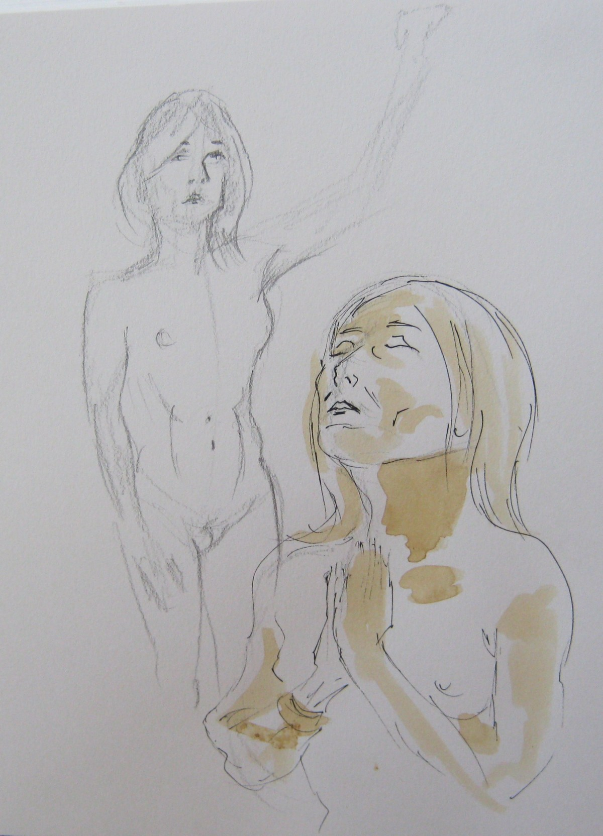 Two sketches of Jillian page by Paul Davidson, one of the hosts of the Figure Drawing workshop on body acceptance in Montreal on Oct. 20, 2013.