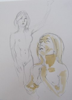 Sketches of Jillian Page by Paul Davidson.