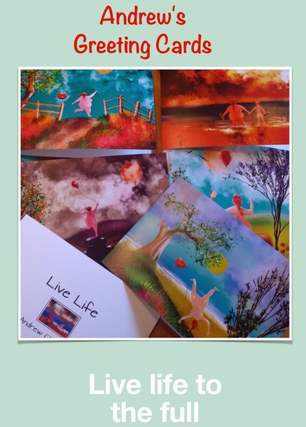 Naturism greeting cards by Andrew Chambers.
