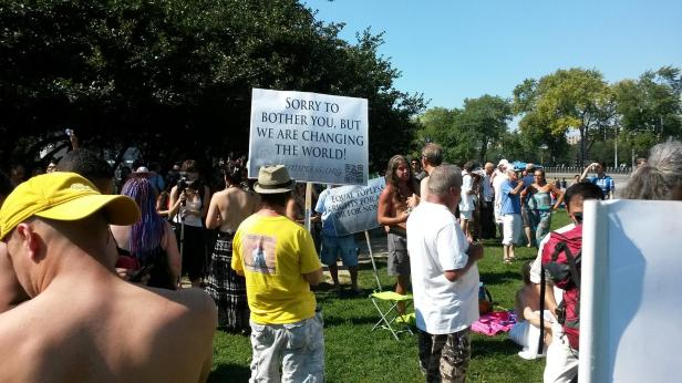 Some of the activity at the Go Topless event in Montreal on Sunday, Aug. 24. (Photo: Jillian Page)