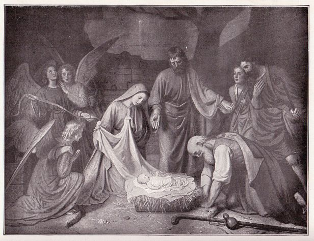 "The illustration is titled ""The First Christmas,"" from the painting by H.J.Sinkel. (Photo: Wikimedia Commons)"