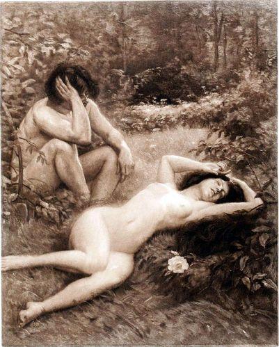 Albert Fourié's Eve Slumbers. (Wikimedia Commons)
