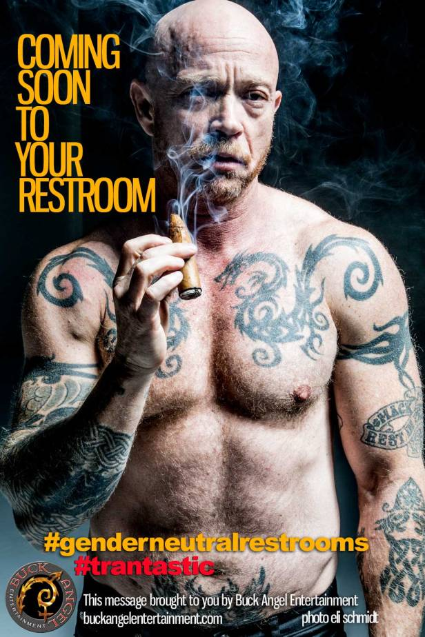 Buck Angel: This is what women could see in women's public washrooms and dressing rooms if legislation in Canada and four U.S. states forces trans men to use women's facilities. (Photo: Buck Angel/Eli Schmidt / Buck Angel Entertainment)