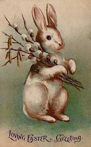 Easter Bunny postcard from 1907. (Source: Wikipedia)