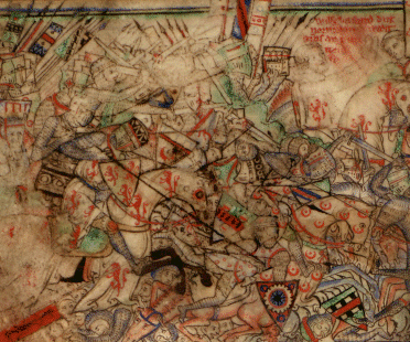 This rather abstract medieval painting of the Battle of Hastings pretty much represents my personal battle during the past couple of weeks. (Source: Wikimedia Commons)
