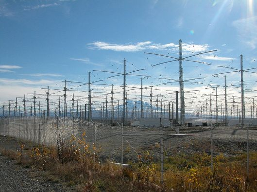 The HAARP project in Alaska. (Photo: Wikimedia Commons)