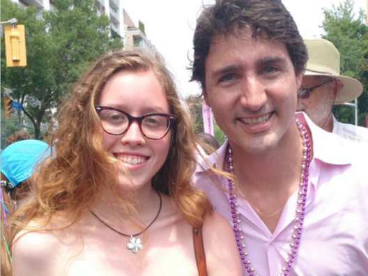 Justin Trudeau and unidentified woman at 2014 Pride Parade in Toronto. (Photo: Twitter)