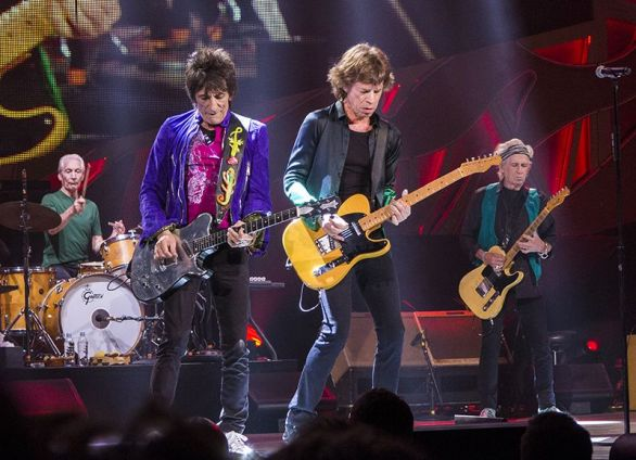 The Rolling Stones at Marcus Amphitheater in Milwaukee, USA, performing at Summerfest festival on June 23, 2015 (Photo by Jim Pietryga/Wikimedia Commons)