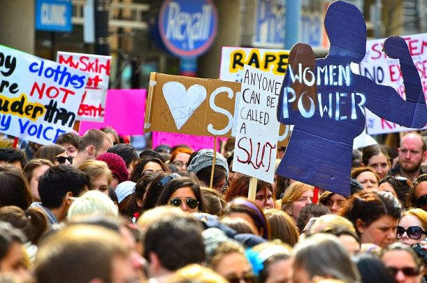 The first SlutWalk protest in Toronto, April 3, 2011. (Source: Anton Bielousov/Wikipedia)
