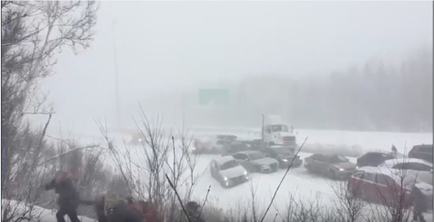 Quebec disgraced by bad drivers, slow road crews during latest storm